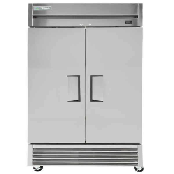 True TS-43F 47 inch Stainless Steel Two Section Solid Door Reach in Freezer
