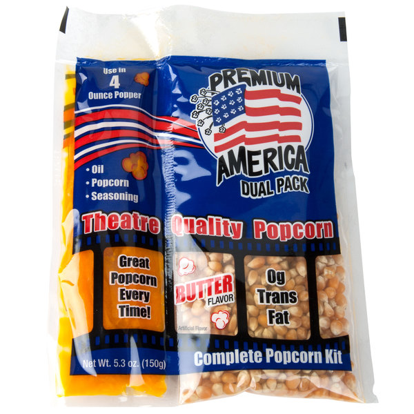 Great Western Premium America All-In-One Popcorn Kit for 4 oz. Popper - 24/Case