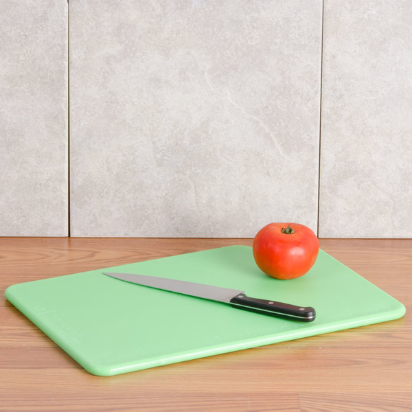 """San Jamar CB1218KC Cut-N-Carry® 18"""" x 12"""" x 1/2"""" 6-Piece Color-Coded Cutting Board with Hook System Main Image 4"""