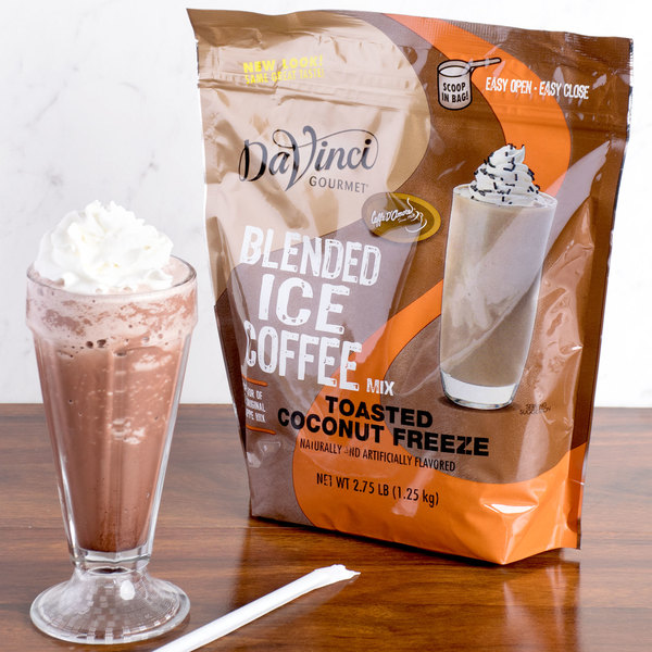 DaVinci Gourmet Ready to Use Toasted Coconut Freeze Mix - 2.75 lb.
