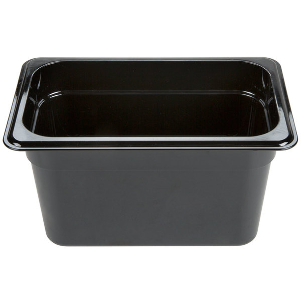 "Carlisle 3088203 StorPlus 1/4 Size Black High Heat Food Pan - 6"" Deep"
