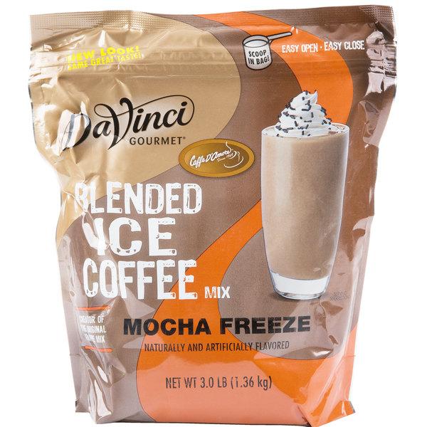 DaVinci Gourmet Ready to Use Mocha Freeze Mix - 3 lb.