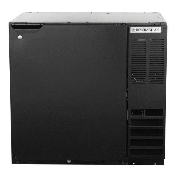 "Beverage-Air BB36HC-1-B 36"" Black Solid Door Back Bar Refrigerator"