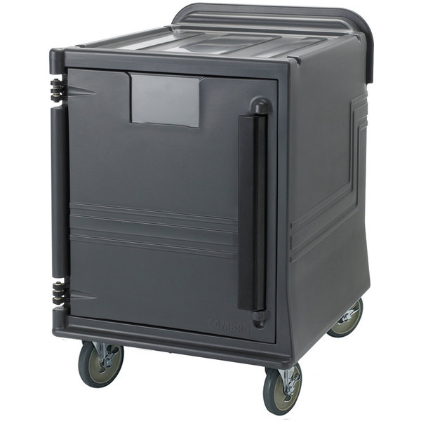 Cambro CMBPL Charcoal Gray Non-Electric Combo Cart Plus with Standard Casters Low Profile