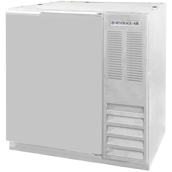 """Beverage-Air BB36HC-1-F-S 36"""" Stainless Steel Solid Door Back Bar Refrigerator Main Image 1"""