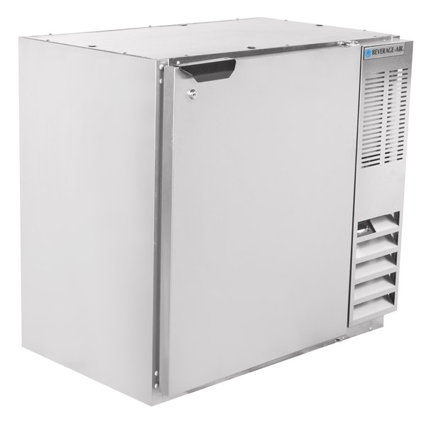 """Beverage-Air BB36HC-1-S 36"""" Stainless Steel Solid Door Back Bar Refrigerator Main Image 1"""