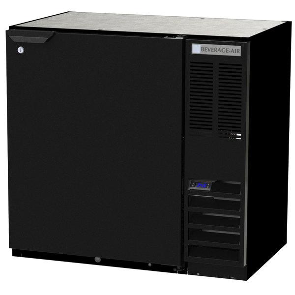 "Beverage-Air BB36HC-1-F-B 36"" Black Solid Door Back Bar Refrigerator Main Image 1"