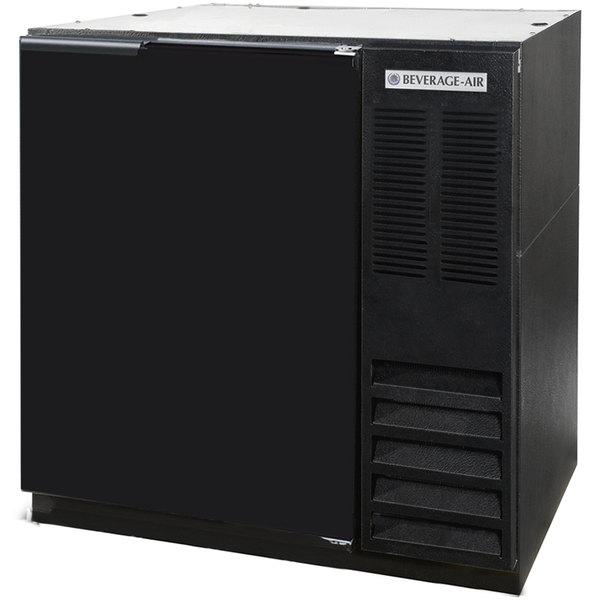 "Beverage-Air BB36-1-B WINE 36"" Black Solid Door Back Bar Wine Refrigerator"