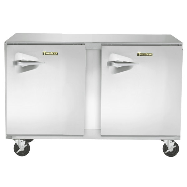 "Traulsen UHT48-RR-SB 48"" Undercounter Refrigerator with Right Hinged Doors and Stainless Steel Back"