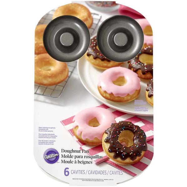 Wilton Non Stick Doughnut Cake Tin Round Donut Mould Cake Pan 6 or 12 Cavities