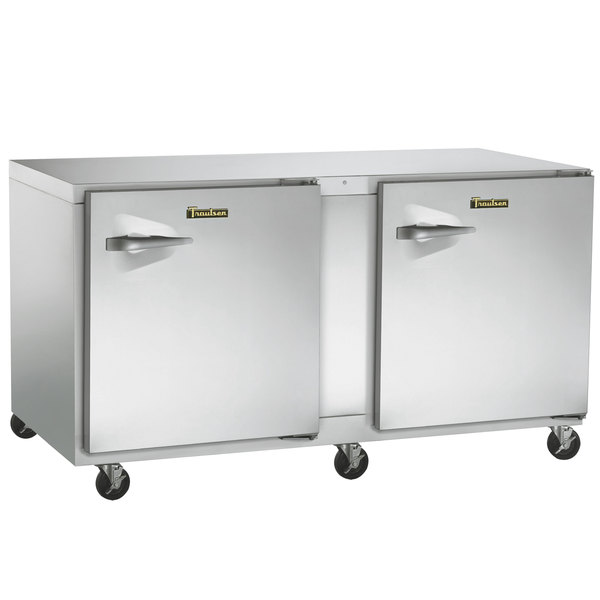 """Traulsen UHT72-RR-SB 72"""" Undercounter Refrigerator with Right Hinged Doors and Stainless Steel Back Main Image 1"""