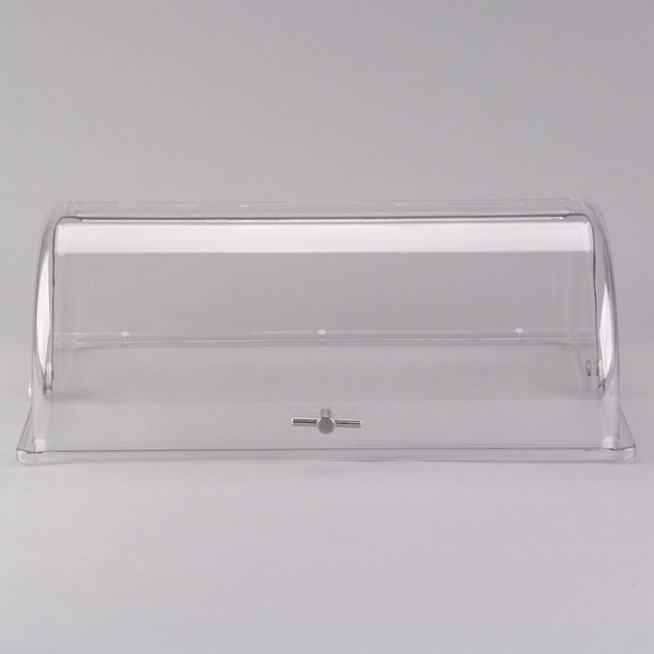 Tablecraft PC1 Rectangular Polycarbonate Roll Top Lid - 21 1/2 inch x 13 1/4 inch x 7 1/2 inch