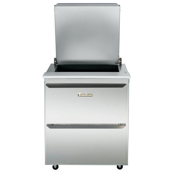 """Traulsen UST276-D-SB 27"""" 2 Drawer Stainless Steel Back Refrigerated Sandwich Prep Table Main Image 1"""
