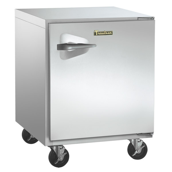 """Traulsen UHT32-R-SB 32"""" Undercounter Refrigerator with Right Hinged Door and Stainless Steel Back - 8.8 Cu. Ft."""
