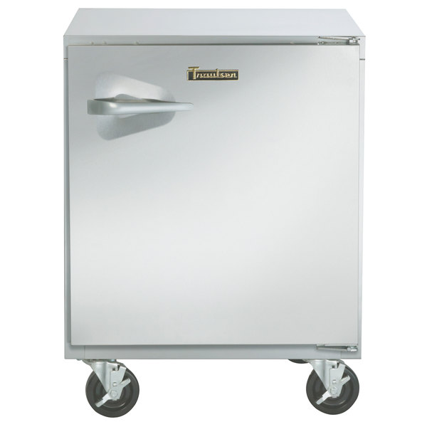 "Traulsen UHT32-R-SB 32"" Undercounter Refrigerator with Right Hinged Door and Stainless Steel Back"