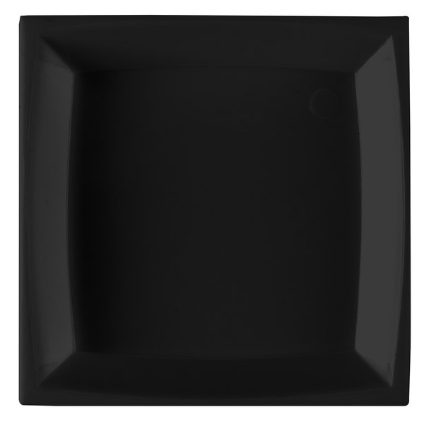 """WNA Comet APTSQ25 Petites 2 1/2"""" Black Square Dish - 50/Pack"""