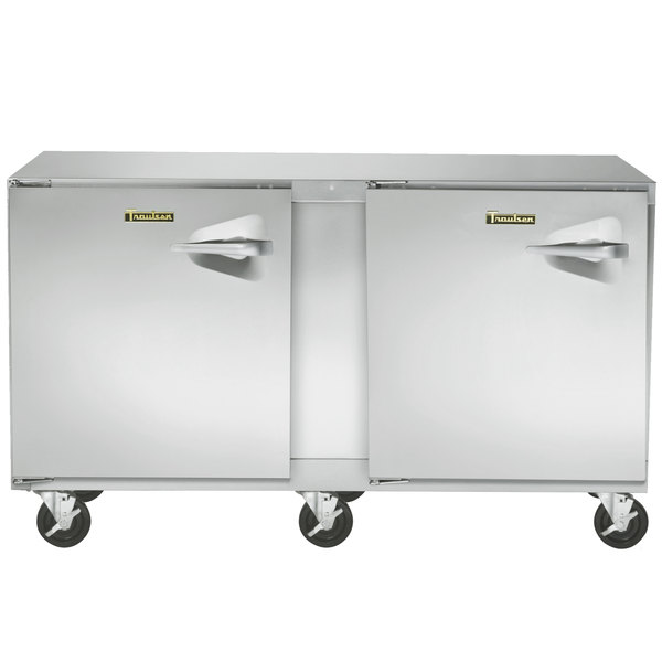 """Traulsen UHT60-LL-SB 60"""" Undercounter Refrigerator with Left Hinged Doors and Stainless Steel Back"""