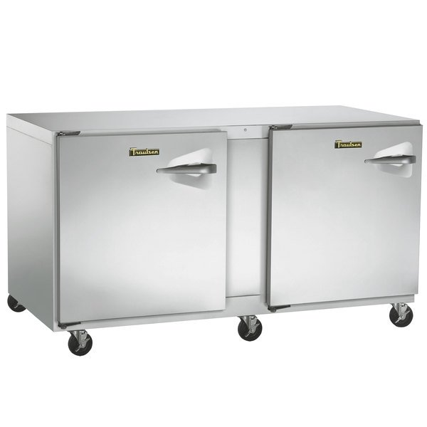 """Traulsen UHT60-LL-SB 60"""" Undercounter Refrigerator with Left Hinged Doors and Stainless Steel Back Main Image 1"""