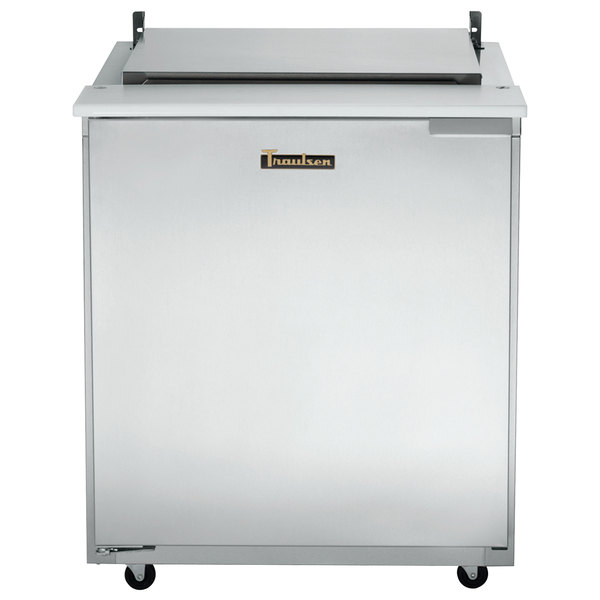 "Traulsen UST328-L 32"" 1 Left Hinged Door Refrigerated Sandwich Prep Table"