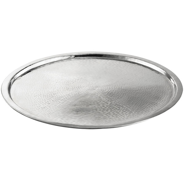 21 Round Stainless Steel Tray, Round Stainless Steel Tray