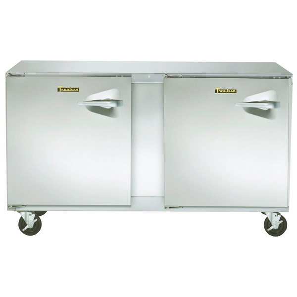 """Traulsen ULT48-LL-SB 48"""" Undercounter Freezer with Left Hinged Doors and Stainless Steel Back"""