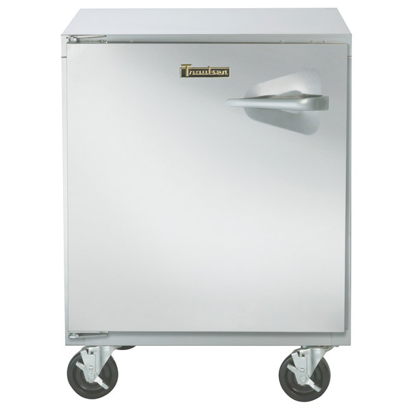 "Traulsen ULT27-L-SB 27"" Undercounter Freezer with Left Hinged Door and Stainless Steel Back Main Image 1"