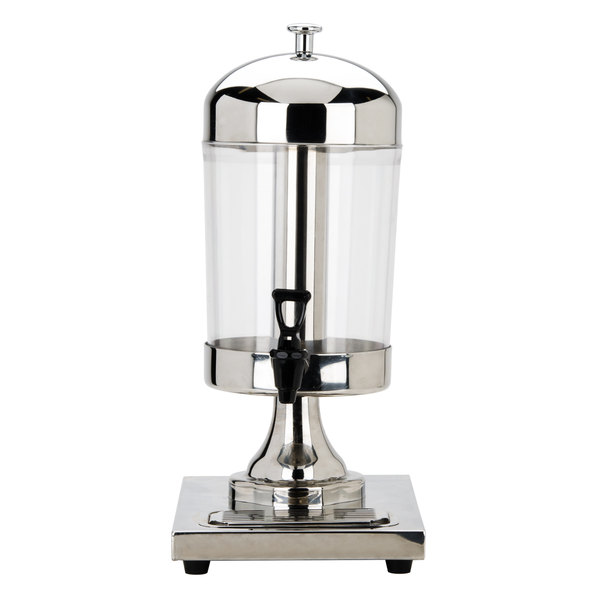 Choice 2.1 Gallon Stainless Steel Single Beverage Dispenser