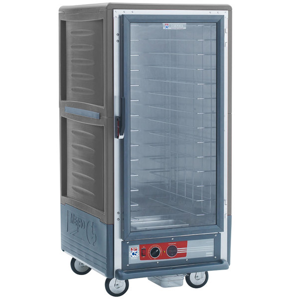 Metro C537-HFC-4-GY C5 3 Series Heated Holding Cabinet with Clear Door - Gray