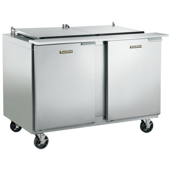 "Traulsen UST7218-LL 72"" 2 Left Hinged Door Refrigerated Sandwich Prep Table"