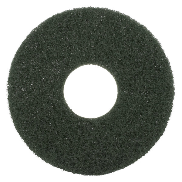 """Scrubble by ACS 55-10 Type 55 10"""" Green Scrubbing Floor Pad - 5/Case Main Image 1"""