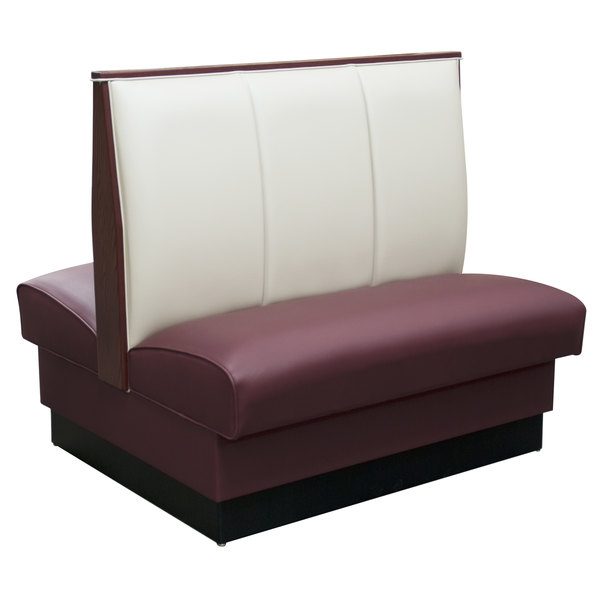 """American Tables & Seating AD-423-D 30"""" Double Deuce 2 Channel Back Upholstered Booth Main Image 1"""