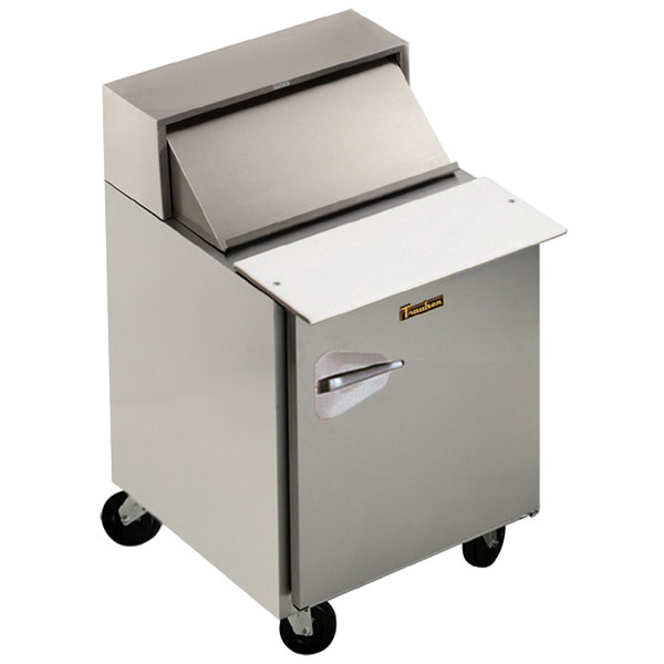 """Traulsen UPT328-R-SB 32"""" 1 Right Hinged Door Stainless Steel Back Refrigerated Sandwich Prep Table"""
