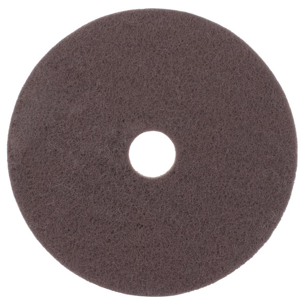 """Scrubble by ACS 71-20 20"""" Brown Stripping Floor Pad - Type 71 - 5/Case"""