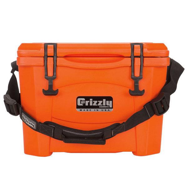 Grizzly Cooler Orange 15 Qt. Extreme Outdoor Merchandiser / Cooler