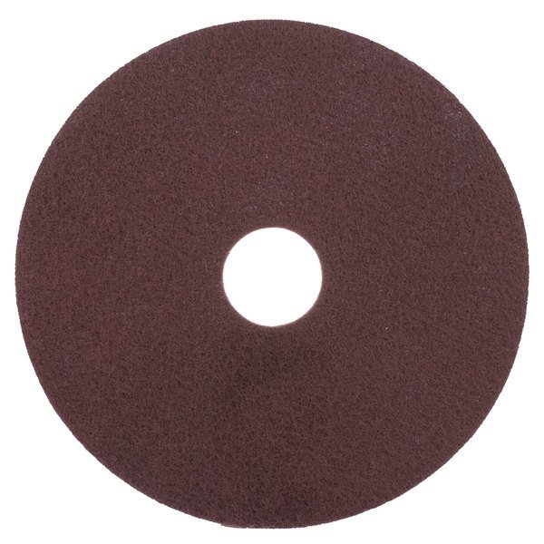 """Scrubble by ACS 47-17 17"""" Maroon Thin Line Conditioning Floor Pad - Type 47 - 10/Case"""