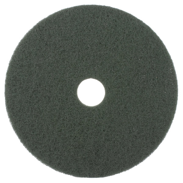 """Scrubble by ACS 55-20 Type 55 20"""" Green Scrubbing Floor Pad - 5/Case Main Image 1"""
