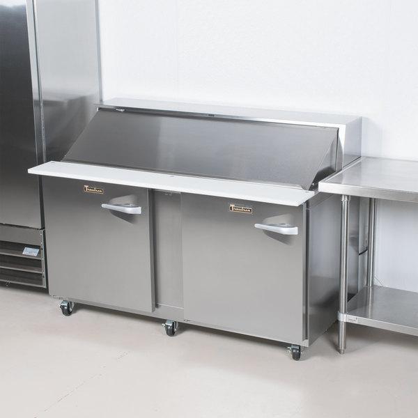 "Traulsen UPT7212-LL 72"" 2 Left Hinged Door Refrigerated Sandwich Prep Table"