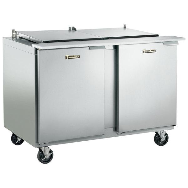 "Traulsen UST7230-LL 72"" 2 Left Hinged Door Refrigerated Sandwich Prep Table"