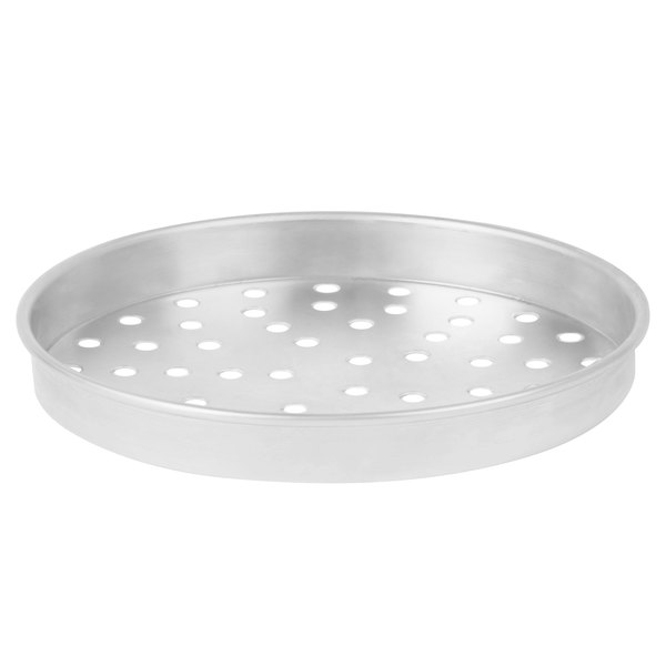 "American Metalcraft PA4010 10"" x 1"" Perforated Standard Weight Aluminum Straight Sided Pizza Pan"