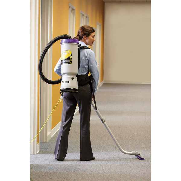 ProTeam 107109 10 Qt. Super CoachVac HEPA Backpack Vacuum Cleaner with 107098 Xover Floor Tool Kit B - 120V Main Image 4