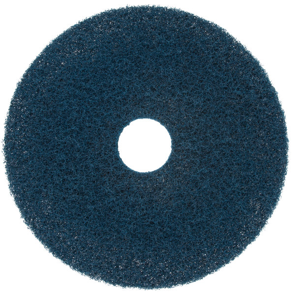 """Scrubble by ACS 75-17 17"""" Midnight Blue Super Stripping Floor Pad - Type 75 - 5/Case"""