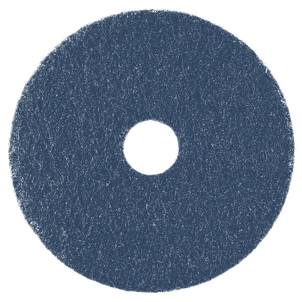 """Scrubble by ACS 75-20 20"""" Midnight Blue Super Stripping Floor Pad - Type 75 - 5/Case Main Image 1"""