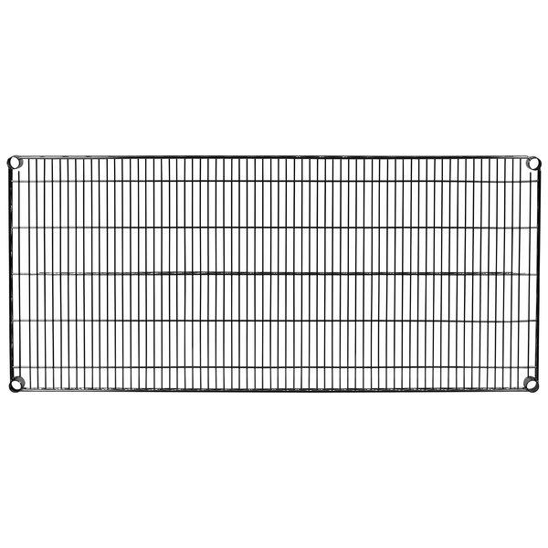 "Metro 2454NBL Super Erecta Black Wire Shelf - 24"" x 54"""