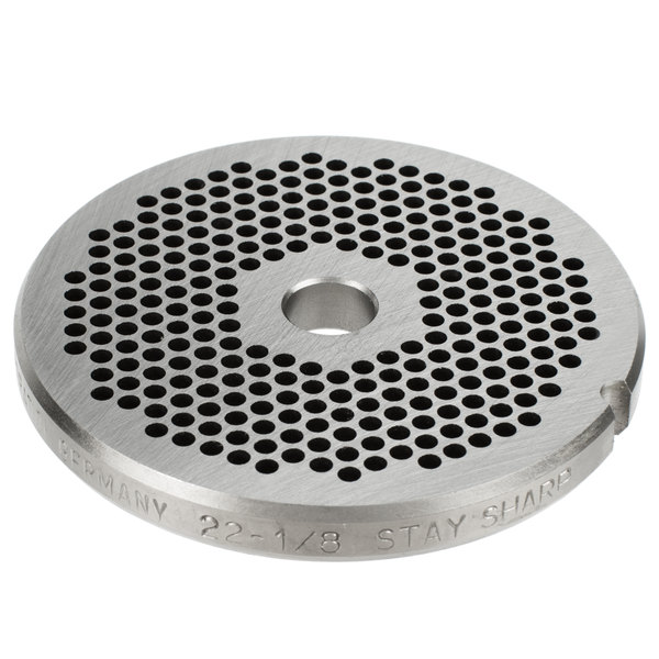 """Hobart 22PLT-1/8S #22 1/8"""" Stay Sharp Grinder Plate for 4822 Meat Choppers and Chopping Ends"""