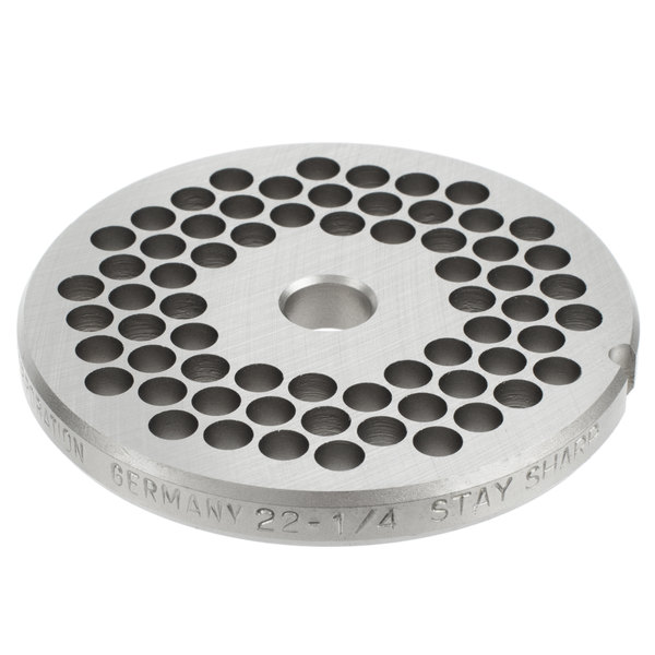 """Hobart 22PLT-1/4S #22 1/4"""" Stay Sharp Grinder Plate for 4822 Meat Choppers and Chopping Ends Main Image 1"""