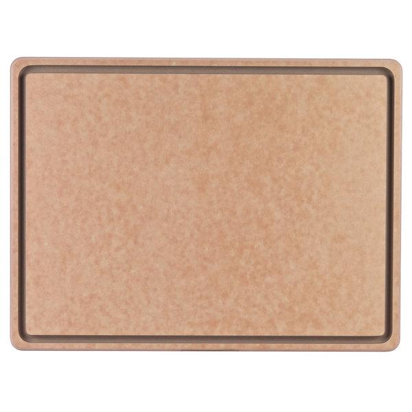 """San Jamar TC182412GV 18"""" x 24"""" x 1/2"""" Tuff-Cut Cutting Board with Groove"""