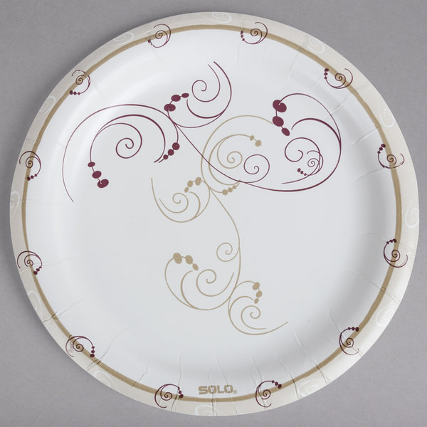 If youu0027re looking for durable yet visually-appealing disposable plates for your foodservice needs then this Dart Solo HP9S-J8001 Symphony 9u201d heavy weight ...  sc 1 st  WebstaurantStore & Dart Solo HP9S-J8001 Symphony 9