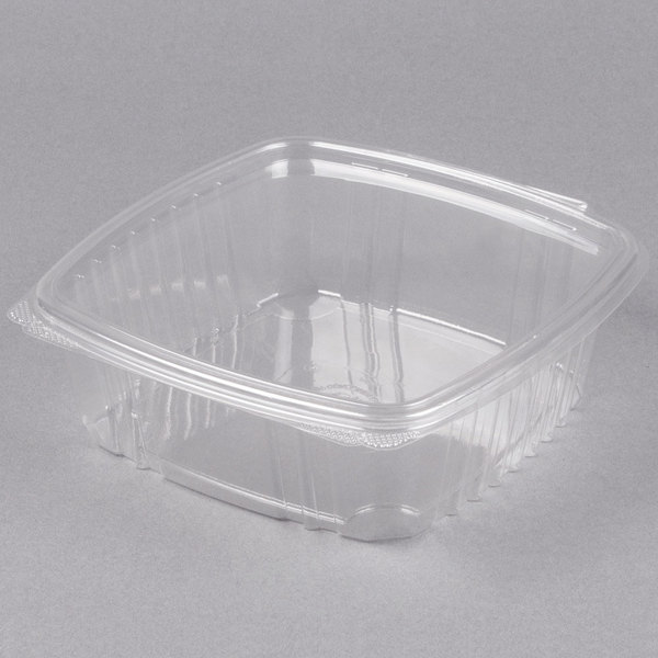 Genpak AD48 1.5 Qt. Clear Hinged Deli Container - 200/Case