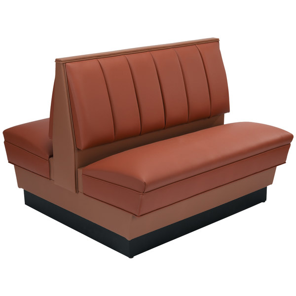 """American Tables & Seating AD42-66U-D Double Deuce Alex Style Upholstered Booth - 42"""" High"""