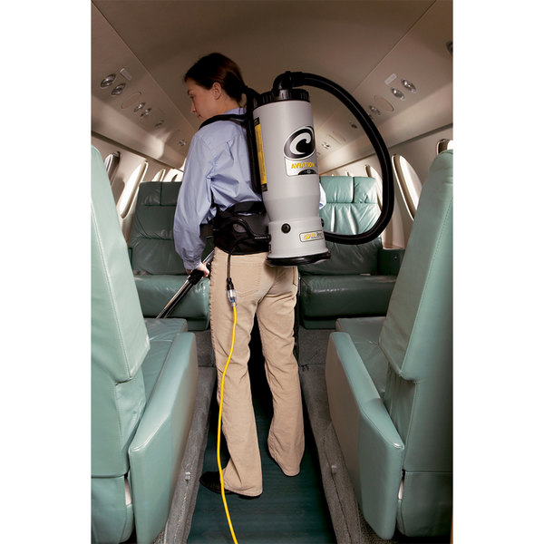 ProTeam 107156 6 Qt. AviationVac Transportation Backpack Vacuum with 107100 Xover Floor Tool Kit D